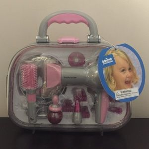Theo Klein Braun Kids Beauty Set in Carrying Case